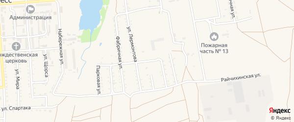 Белорусская улица на карте поселка Прогресса с номерами домов