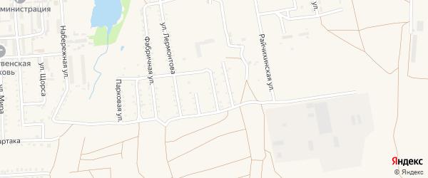 Молодежный переулок на карте поселка Прогресса с номерами домов