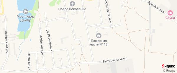 Райчихинская улица на карте поселка Прогресса с номерами домов