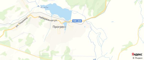 Карта поселка Прогресса Амурской области с районами, улицами и номерами домов