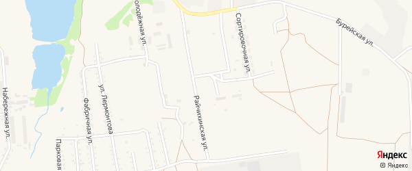 Восточный переулок на карте Кивдинского поселка с номерами домов