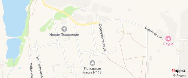 Светотехническая улица на карте поселка Прогресса с номерами домов