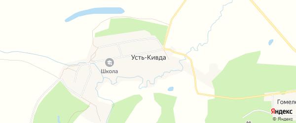 Карта села Усть-Кивды в Амурской области с улицами и номерами домов