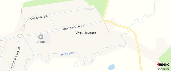 Молодежная улица на карте села Усть-Кивды с номерами домов