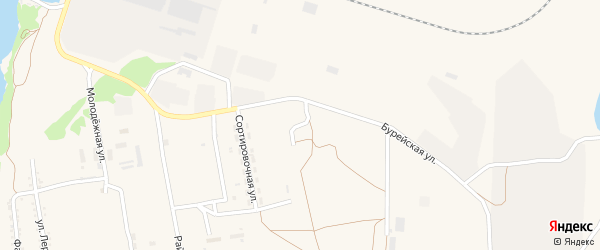 Ясная улица на карте поселка Прогресса с номерами домов