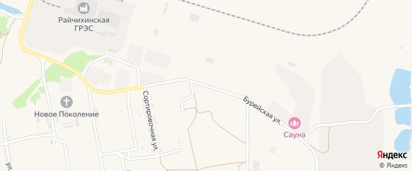Бурейская улица на карте поселка Прогресса с номерами домов