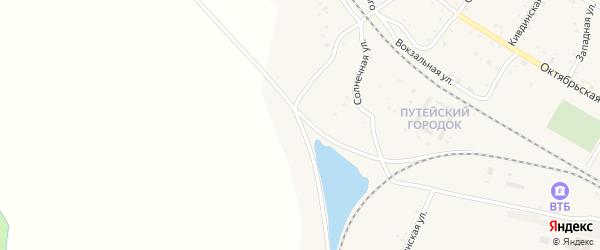 Солнечная улица на карте поселка Буреи с номерами домов