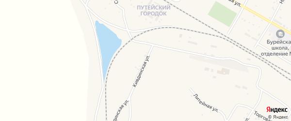 Кивдинская улица на карте поселка Буреи с номерами домов