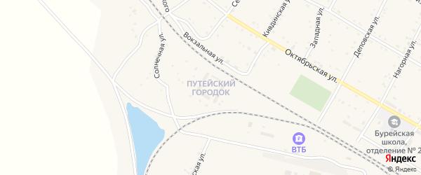 Улица Путейский городок на карте поселка Буреи с номерами домов