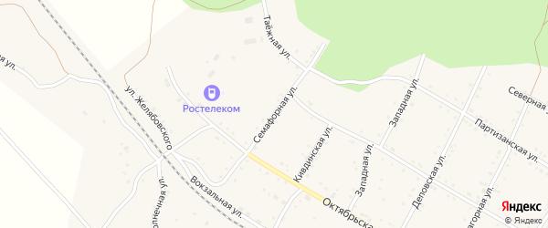 Семафорная улица на карте поселка Буреи с номерами домов