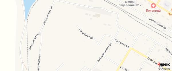 Литейная улица на карте поселка Буреи с номерами домов