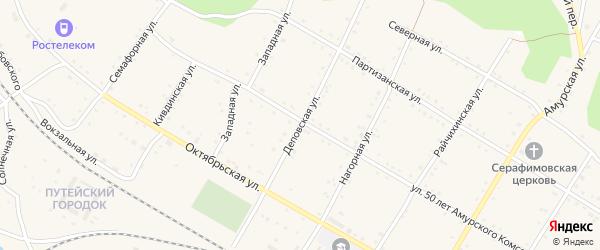 Деповская улица на карте поселка Буреи с номерами домов