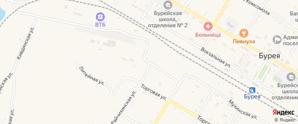 Райчихинская улица на карте поселка Буреи с номерами домов