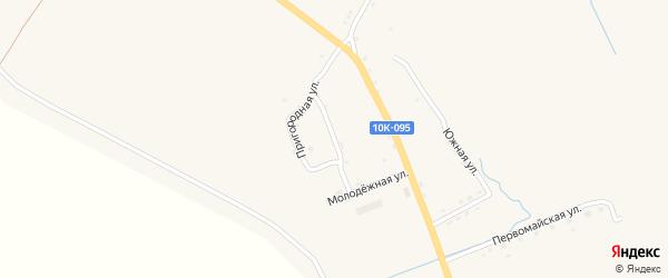 Крестьянская улица на карте поселка Буреи с номерами домов