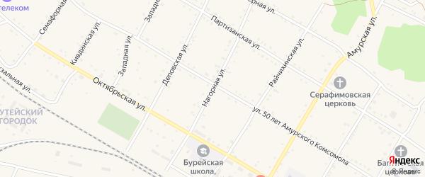 Нагорная улица на карте поселка Буреи с номерами домов