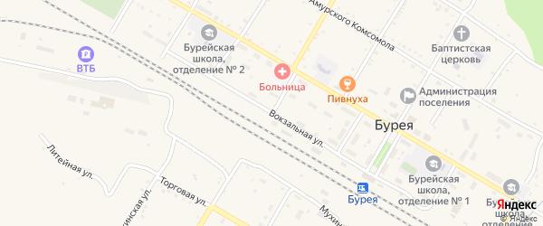 Амурская улица на карте поселка Буреи с номерами домов