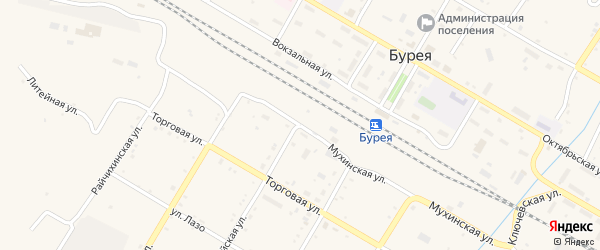 Бурейская улица на карте поселка Буреи с номерами домов