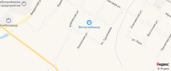 Улица Чкалова на карте поселка Буреи с номерами домов