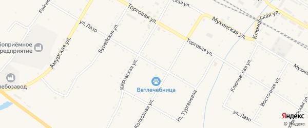 Улица Лазо на карте поселка Буреи с номерами домов