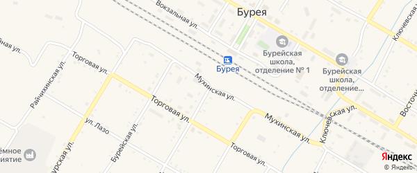 Кировская улица на карте поселка Буреи с номерами домов