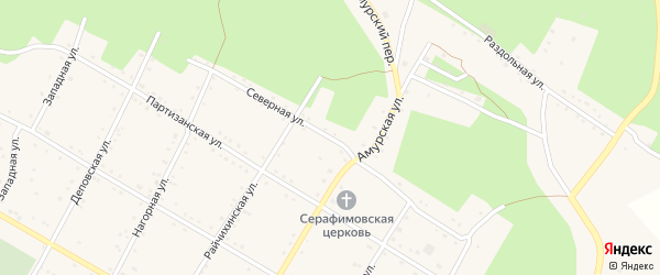 Северная улица на карте поселка Буреи с номерами домов