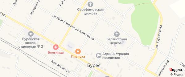 Улица 50 лет Амурского Комсомола на карте поселка Буреи с номерами домов