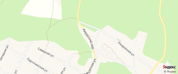 Амурский переулок на карте поселка Буреи с номерами домов