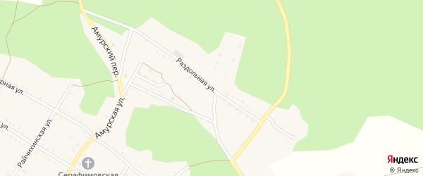 Раздольная улица на карте поселка Буреи с номерами домов