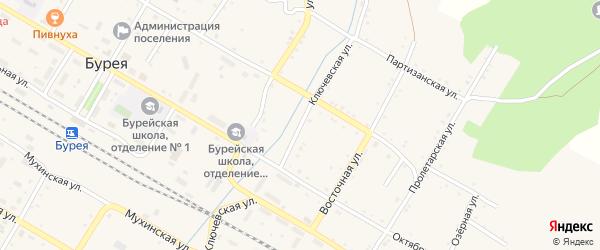 Ключевская улица на карте поселка Буреи с номерами домов