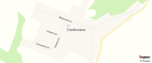 Низовая улица на карте села Семеновки с номерами домов