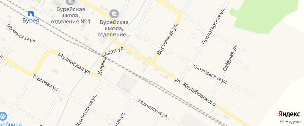 Восточная улица на карте поселка Буреи с номерами домов
