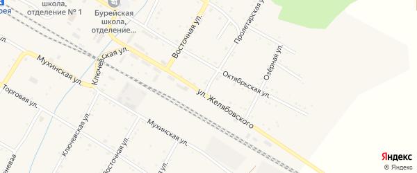 Пролетарская улица на карте поселка Буреи с номерами домов
