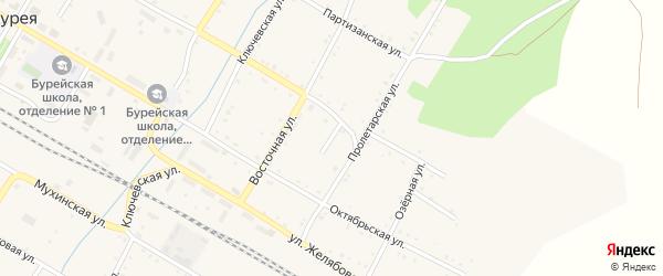 Базарный переулок на карте поселка Буреи с номерами домов