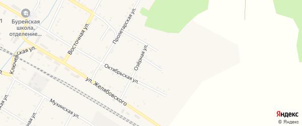 Озерный переулок на карте поселка Буреи с номерами домов