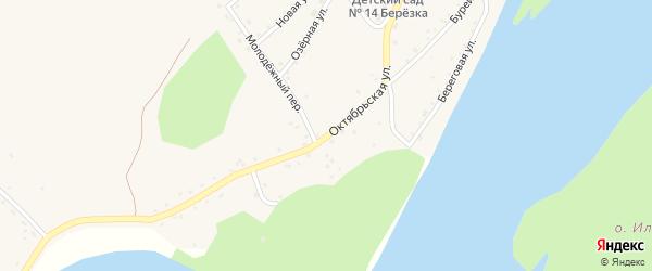 Октябрьская улица на карте села Малиновки с номерами домов