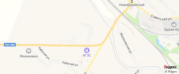 Дачная улица на карте села Малиновки с номерами домов