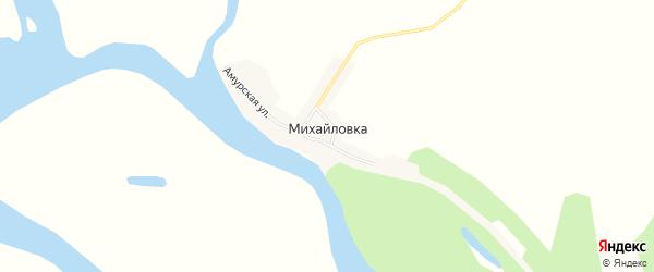 Карта села Михайловки в Амурской области с улицами и номерами домов