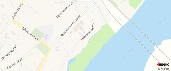 Набережная улица на карте села Малиновки с номерами домов