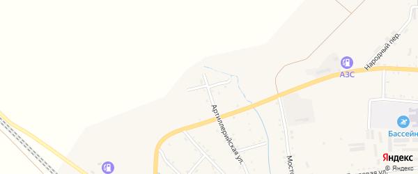 Кузнечная улица на карте Новобурейского поселка с номерами домов