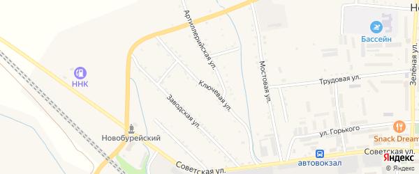 Ключевая улица на карте Новобурейского поселка с номерами домов