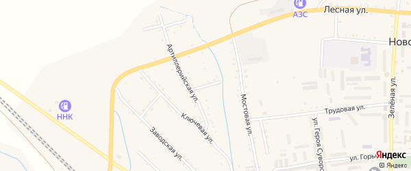 Ключевой переулок на карте Новобурейского поселка с номерами домов