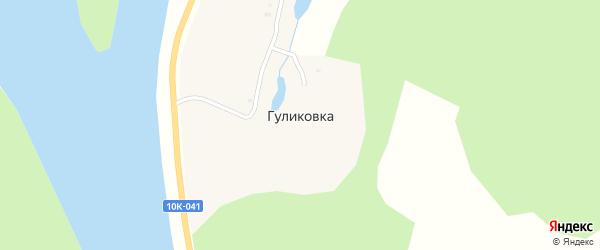 Центральная улица на карте села Гуликовки с номерами домов