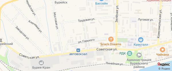 Улица Им Героя Суворова на карте Новобурейского поселка с номерами домов