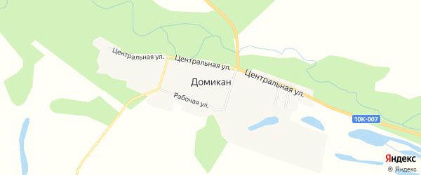 Карта села Домикана в Амурской области с улицами и номерами домов