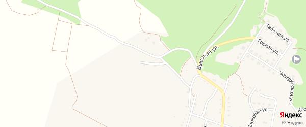 Высокая улица на карте Новобурейского поселка с номерами домов