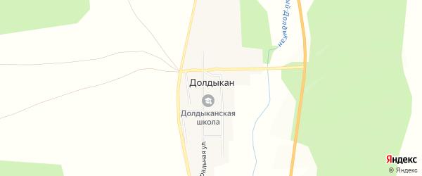 Карта села Долдыкана в Амурской области с улицами и номерами домов