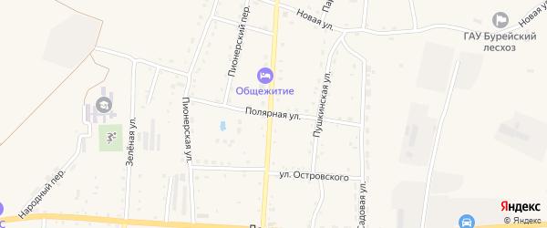 Полярная улица на карте Новобурейского поселка с номерами домов