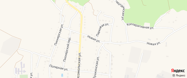Новая улица на карте Новобурейского поселка с номерами домов