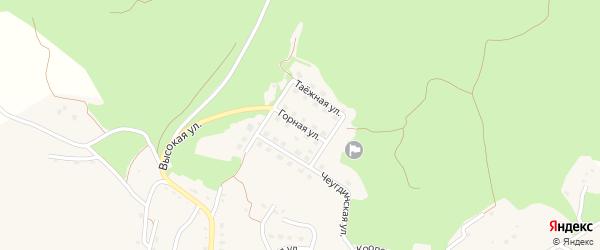 Горная улица на карте Новобурейского поселка с номерами домов