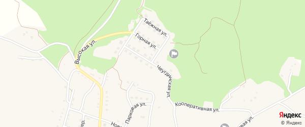 Чеугдинская улица на карте Новобурейского поселка с номерами домов